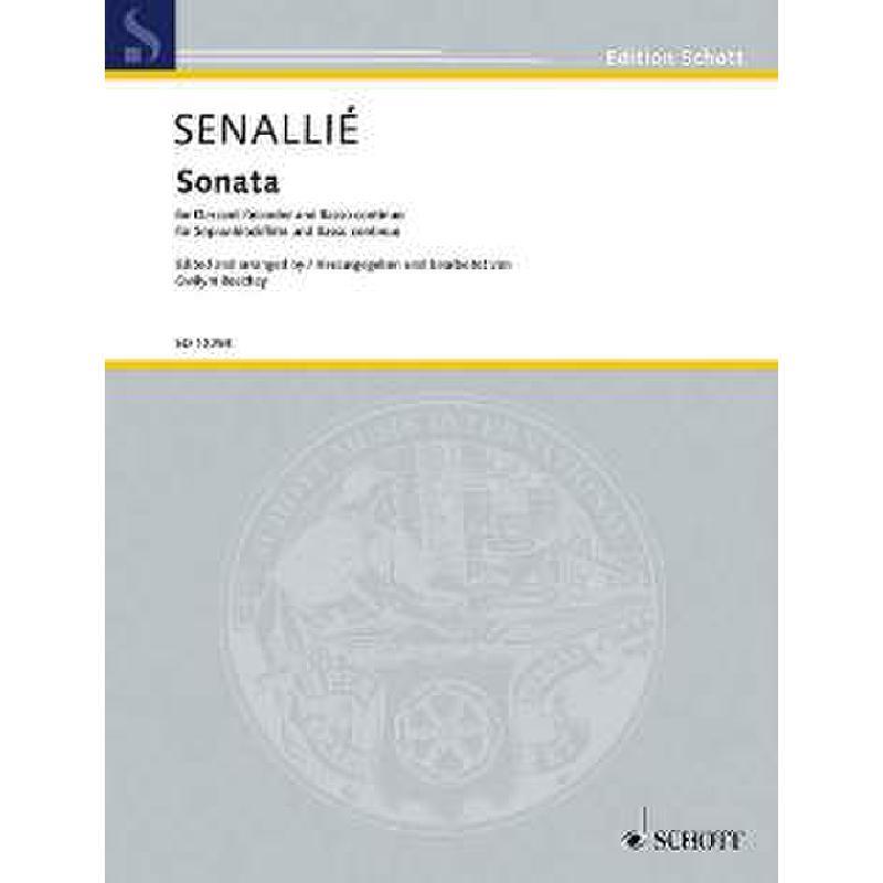 Titelbild für ED 12298 - SONATE