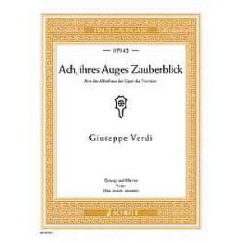 Titelbild für ED 07942 - ACH IHRES AUGES ZAUBERBLICK