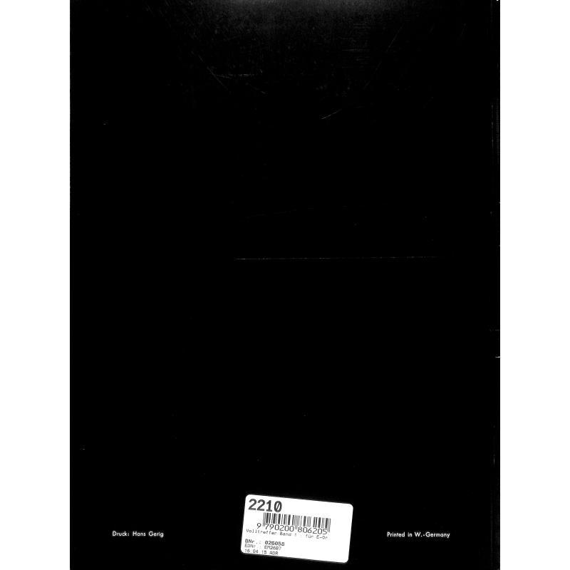 Notenbild für HGEM 2687 - VOLLTREFFER 1