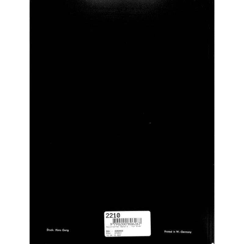 Notenbild für HGEM 2841 - VOLLTREFFER 3