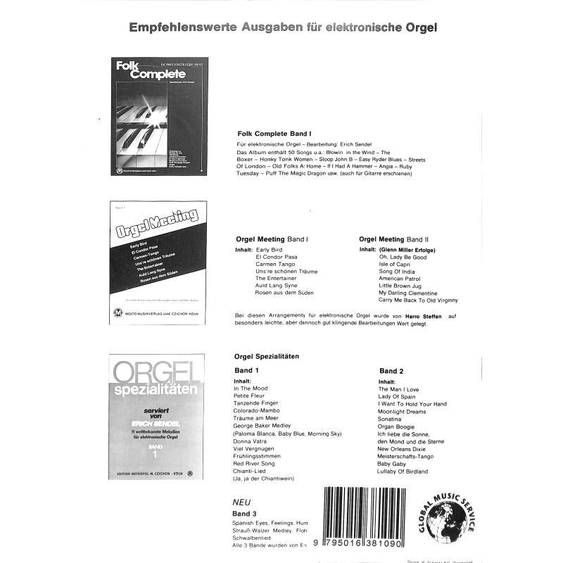 Notenbild für METEMB 810 - ORGEL SPEZIALITAETEN 3