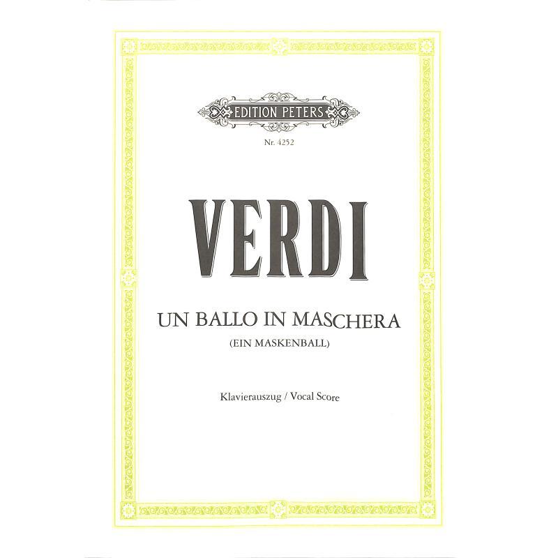 Titelbild für EP 4252 - UN BALLO IN MASCHERA (EIN MASKENBALL)
