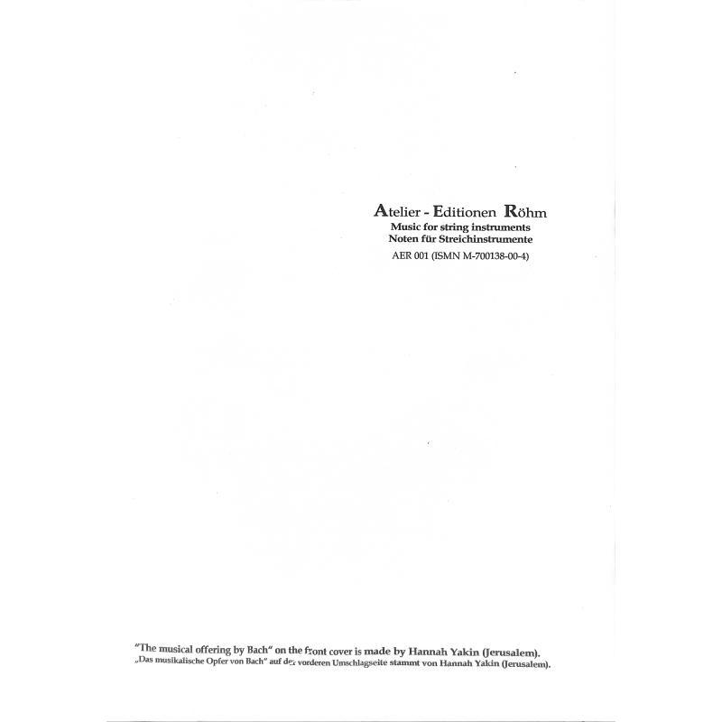 Notenbild für AER 001 - PASSACAGLIA