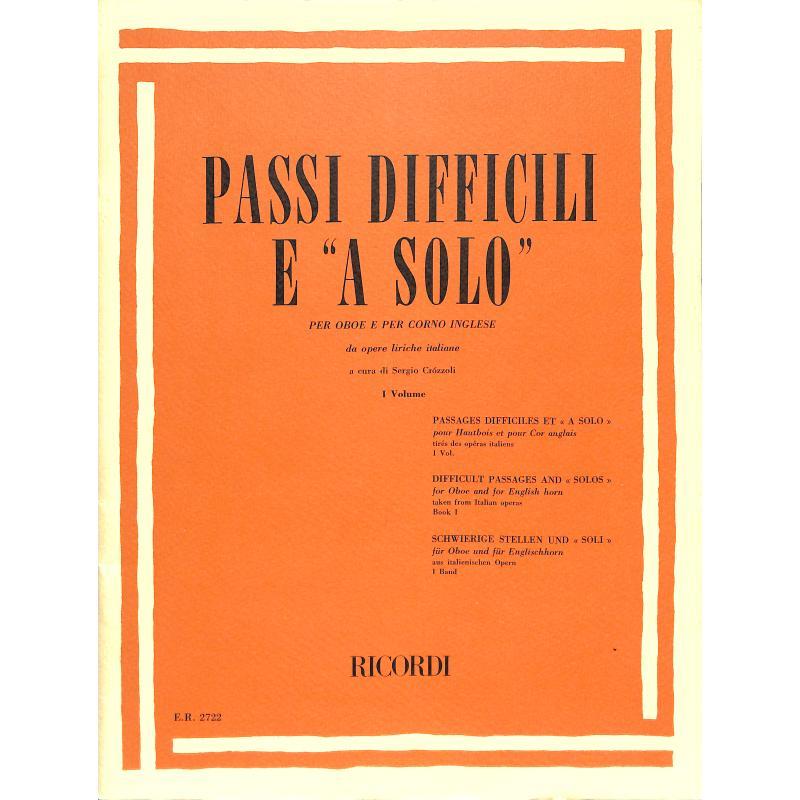 Titelbild für ER 2722 - PASSI DIFFICILI 1