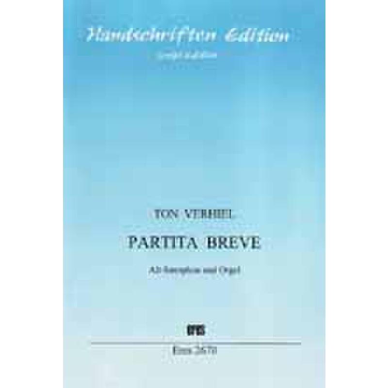 Titelbild für ERES 2670 - PARTITA BREVE