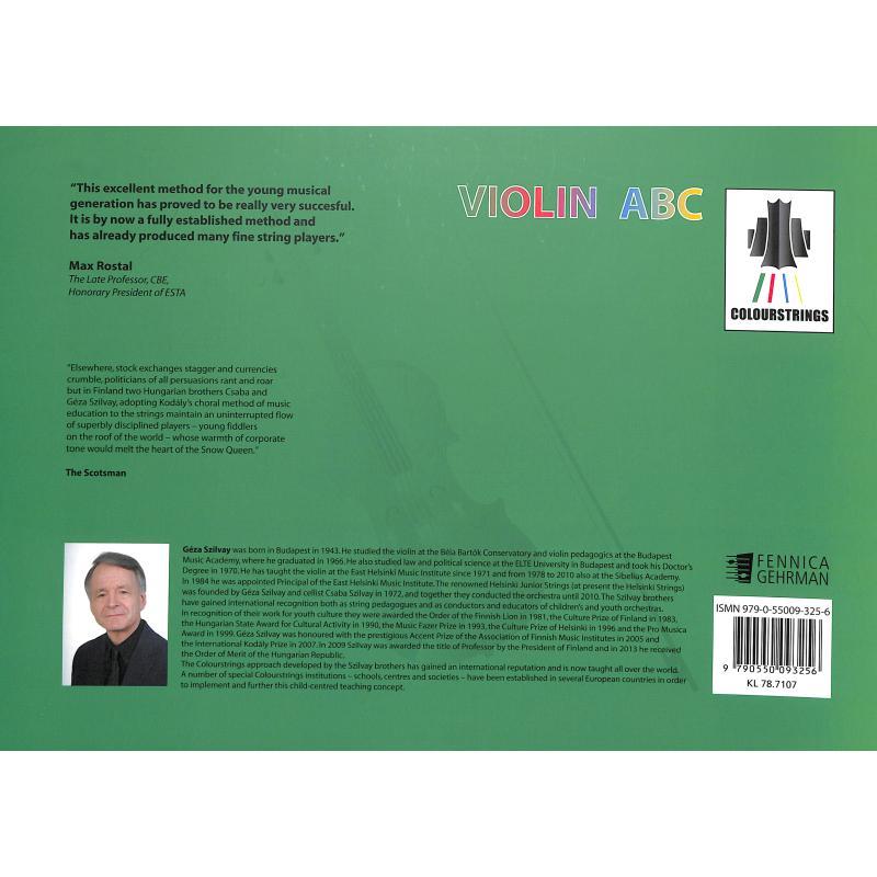 Notenbild für FENNICA 325-6 - Colourstrings Violin ABC Book A