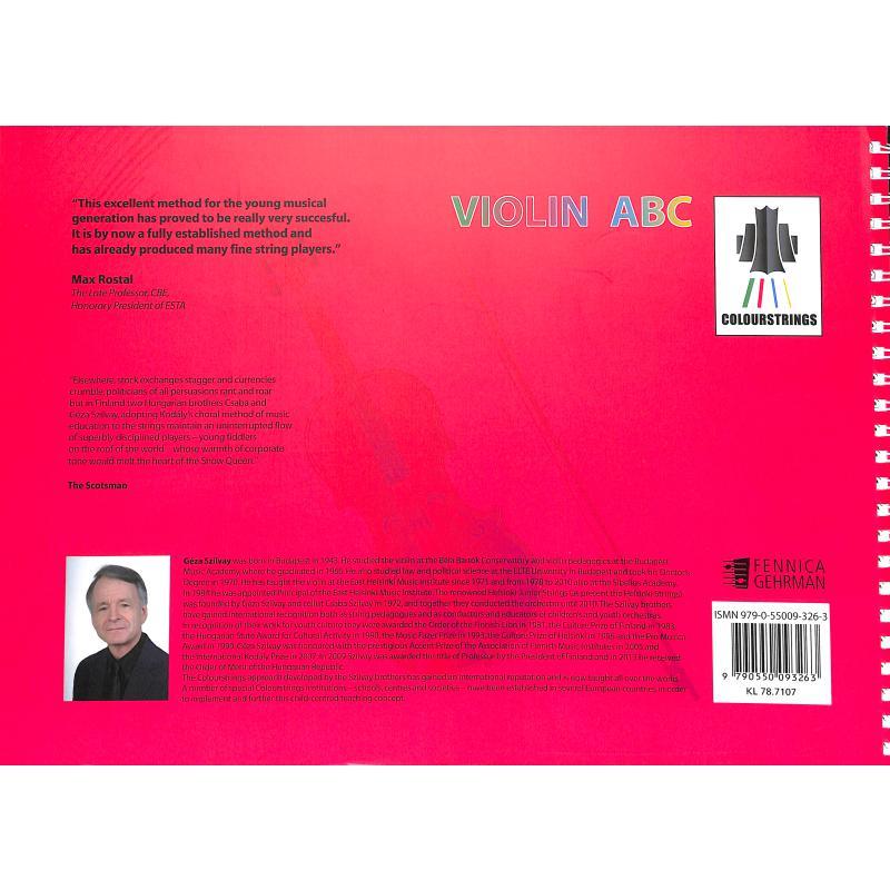Notenbild für FENNICA 326-3 - Colourstrings Violin ABC Book B