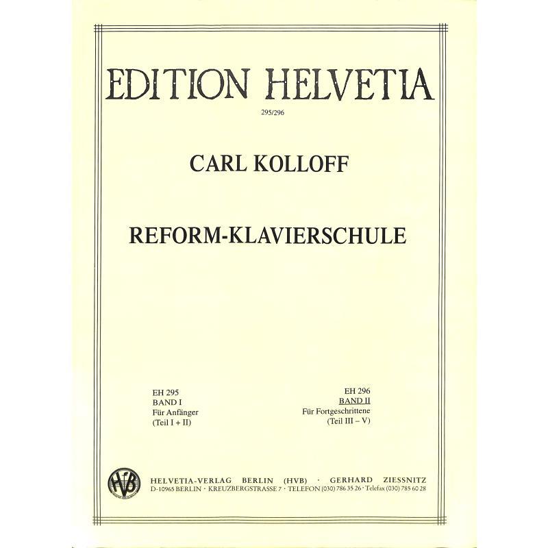 Titelbild für HELVETIA 296 - REFORM KLAVIERSCHULE 2