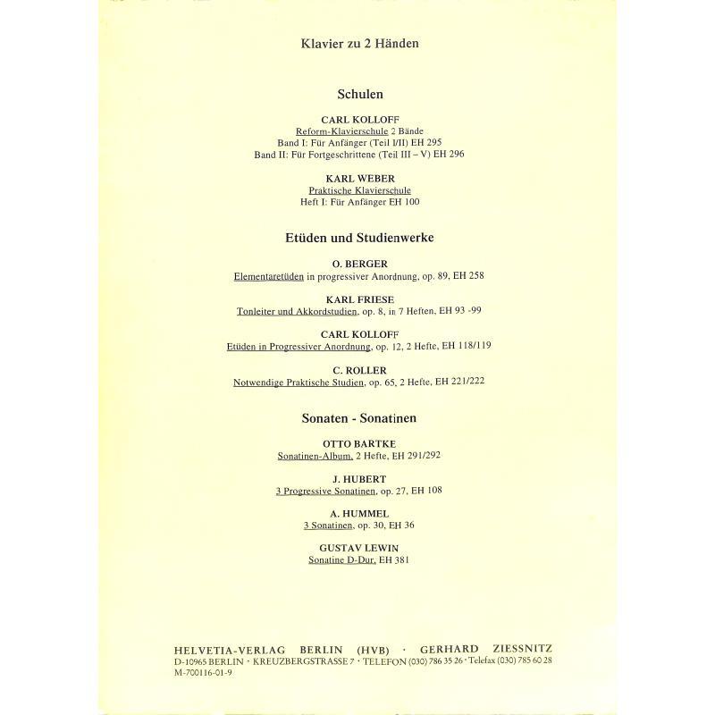 Notenbild für HELVETIA 296 - REFORM KLAVIERSCHULE 2