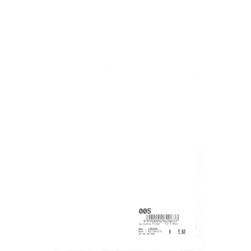 Notenbild für FWF 149-2AKK - VERRUECKTE FINGER - FOX