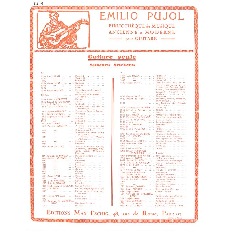 Titelbild für ME 7045 - PAVANES + BRANSLE DE POITOU