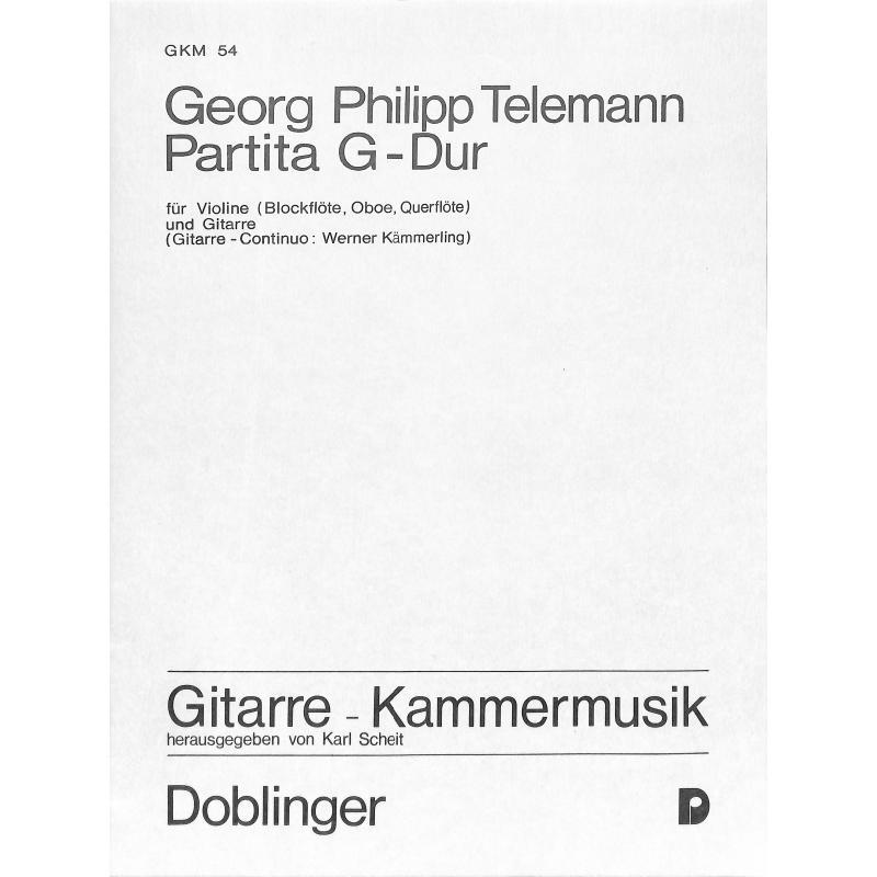 Titelbild für GKM 54 - PARTITA G-DUR