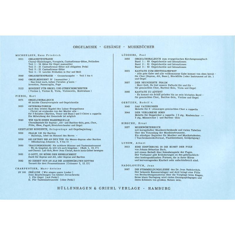 Notenbild für GRIEHL 3011-3 - ORGANISTENPRAXIS 3 - 21 CANTUS FIRMUS SAETZE