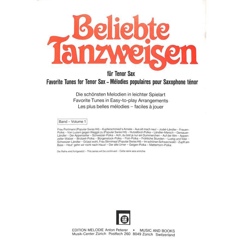 Notenbild für EMZ 2107528 - BELIEBTE TANZWEISEN 1