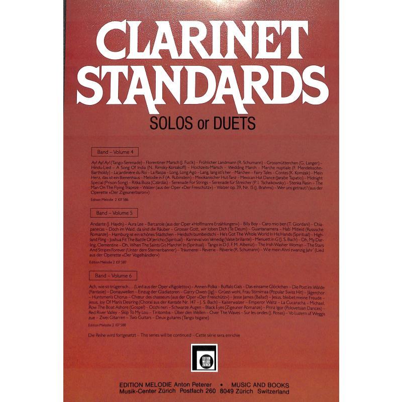Notenbild für EMZ 2107588 - CLARINET STANDARDS 6