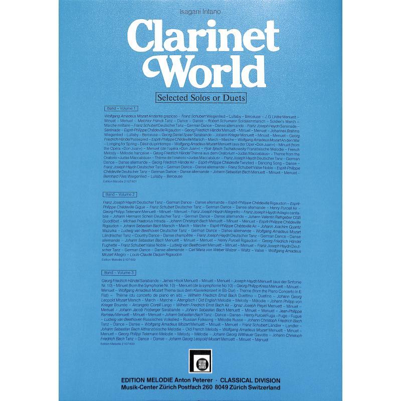 Notenbild für EMZ 2107602 - CLARINET WORLD 2
