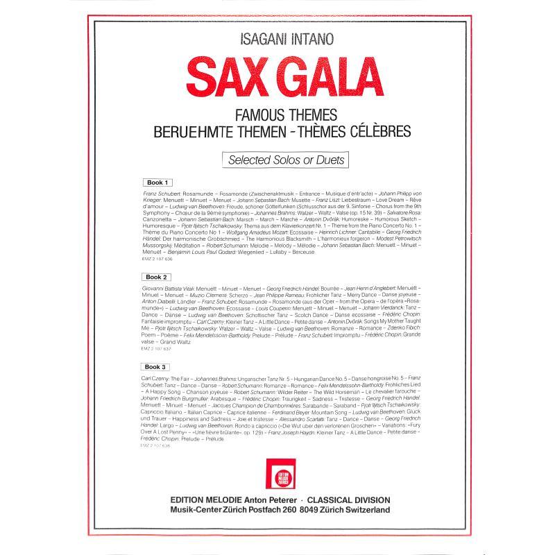 Notenbild für EMZ 2107636 - SAX GALA 1