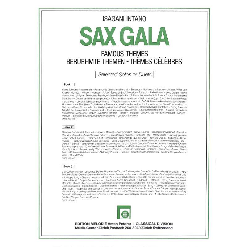 Notenbild für EMZ 2107637 - SAX GALA 2