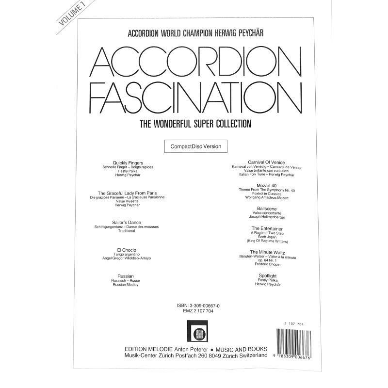 Notenbild für EMZ 2107704 - ACCORDION FASCINATION 1  (AKKORDEON FASZINATION)
