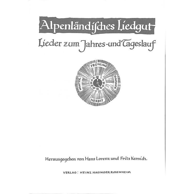 Titelbild für HASINGER 42 - LIEDER ZUM JAHRES + TAGESABLAUF (ALPENLAENDISCHES LIEDGUT)