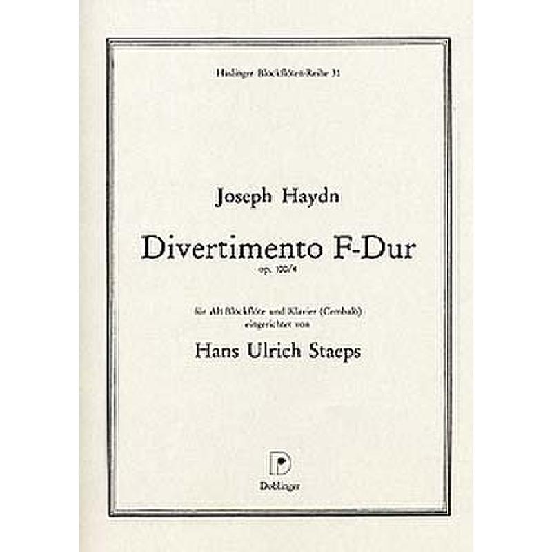 Titelbild für HBR 31 - DIVERTIMENTO F-DUR OP 100/4