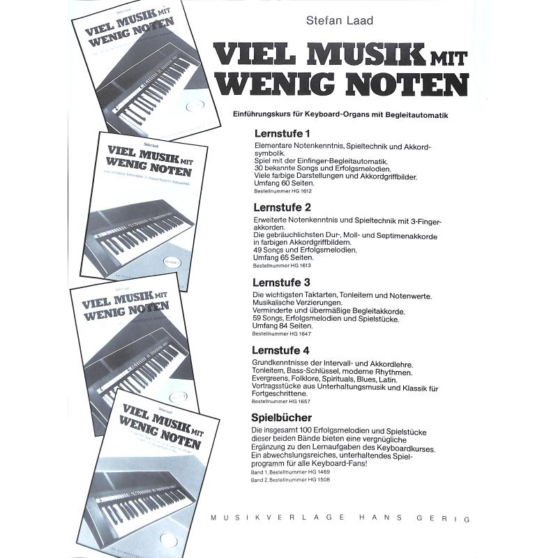 Notenbild für HG 1647 - VIEL MUSIK MIT WENIG NOTEN - LERNSTUFE 3