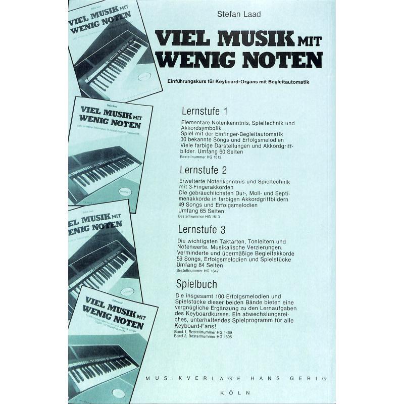 Notenbild für HG 1657 - VIEL MUSIK MIT WENIG NOTEN - LERNSTUFE 4