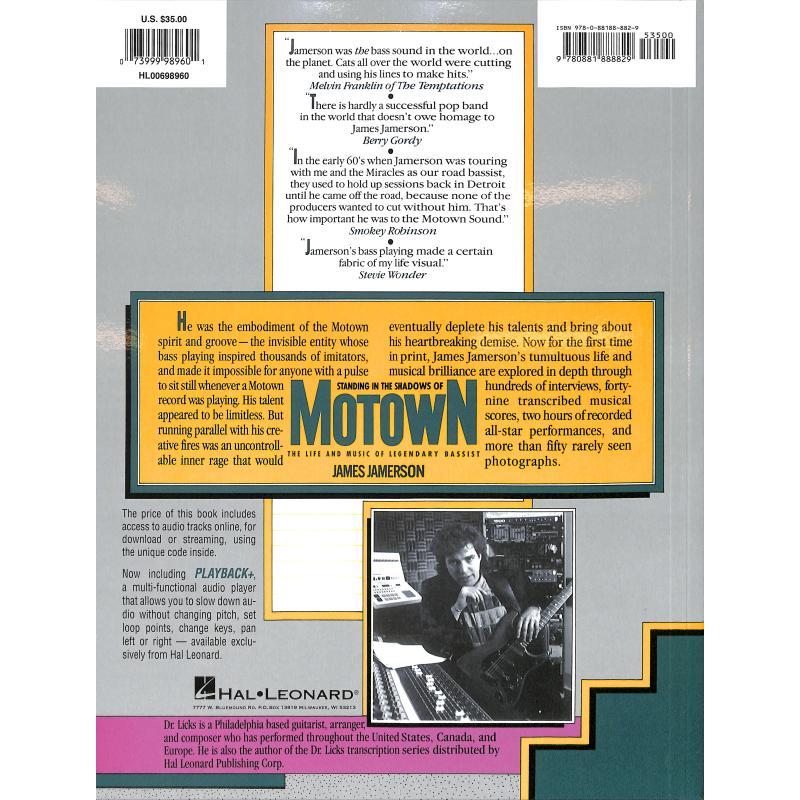 Notenbild für HL 698960 - MOTOWN - STANDING IN SHADOW OF MOTOWN