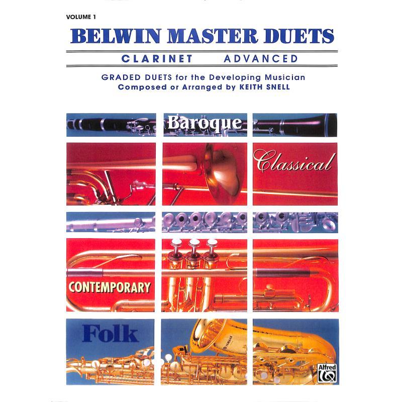 Titelbild für EL 03273 - BELWIN MASTER DUETS 1 - ADVANCED