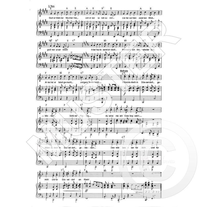 Notenbild für INTRO 1192111 - WAERST DU DOCH IN DUESSELDORF GEBLIEBEN