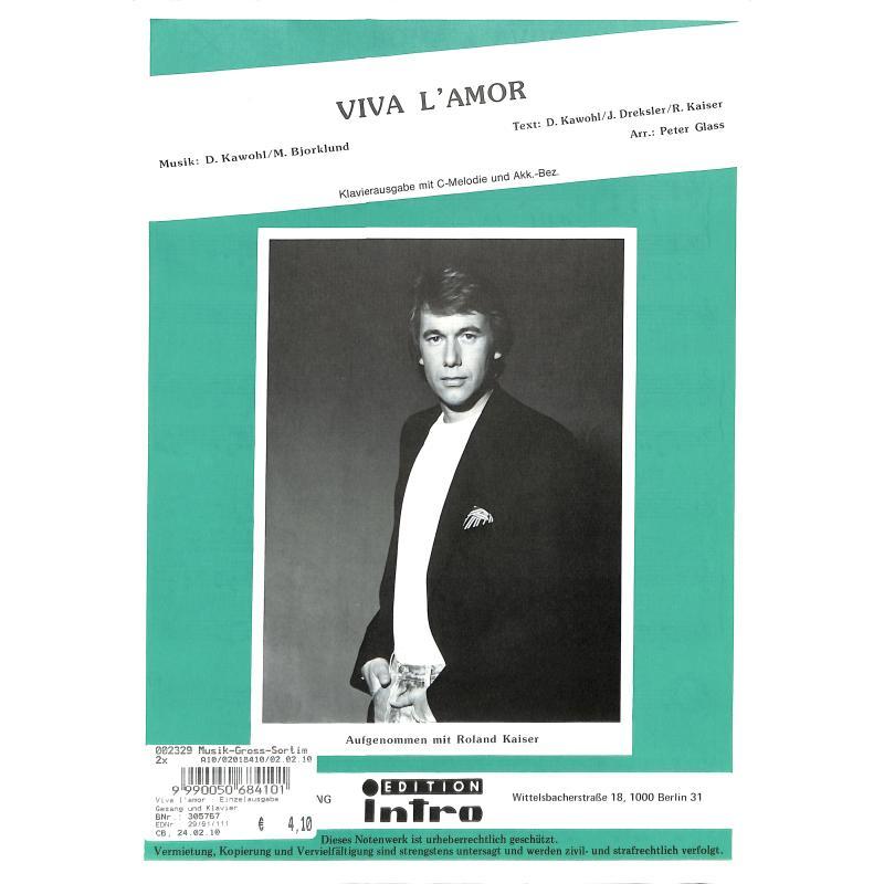Titelbild für INTRO 2991111 - VIVA L'AMOR