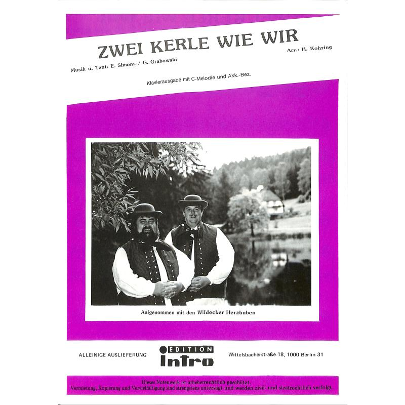 Titelbild für INTRO 2993111 - ZWEI KERLE WIE WIR