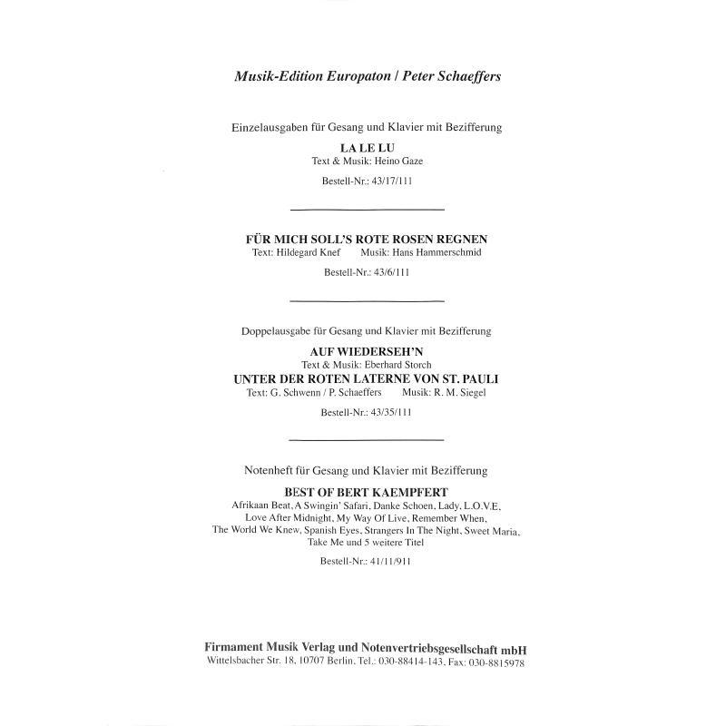 Notenbild für INTRO 4336111 - CAPRI FISCHER - LIED + TANGO SERENADE