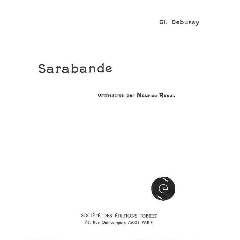 Titelbild für JOBERT 192 - SARABANDE