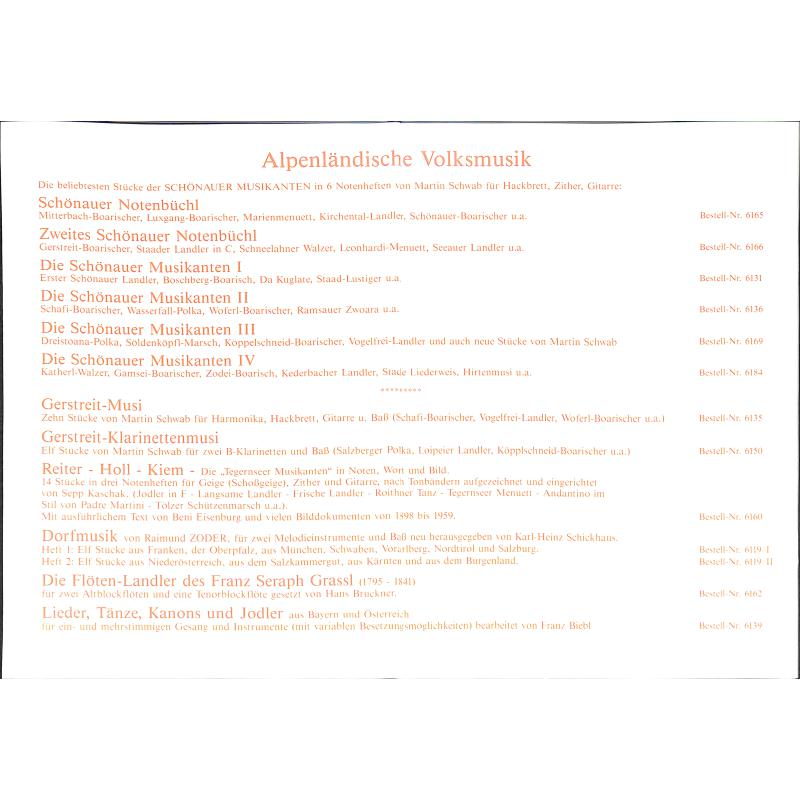 Notenbild für JP 6166 - ZWEITES SCHOENAUER NOTENBUECHL