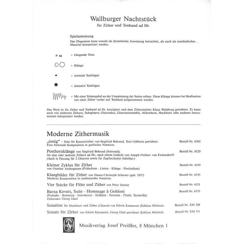 Notenbild für JP 6534 - WALLBURGER NACHTSTUECK