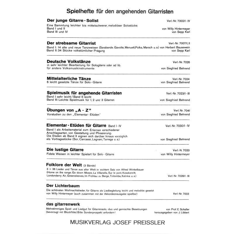Notenbild für JP 7015-1 - WIR LERNEN GITARRE SPIELEN 1