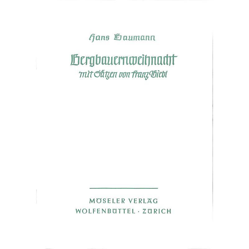 Titelbild für M 59301 - BERGBAUERNWEIHNACHT