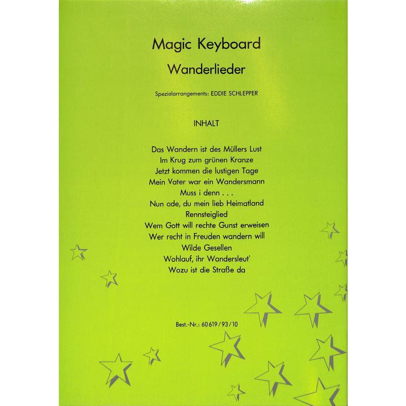 Notenbild für MDW 60619-93-10 - WANDERLIEDER