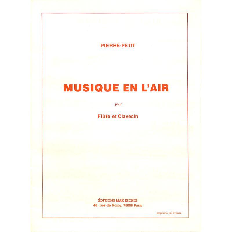 Titelbild für ME 8413 - MUSIQUE EN L'AIR