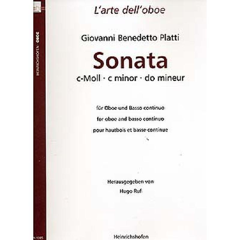 Titelbild für N 1385 - SONATA C-MOLL