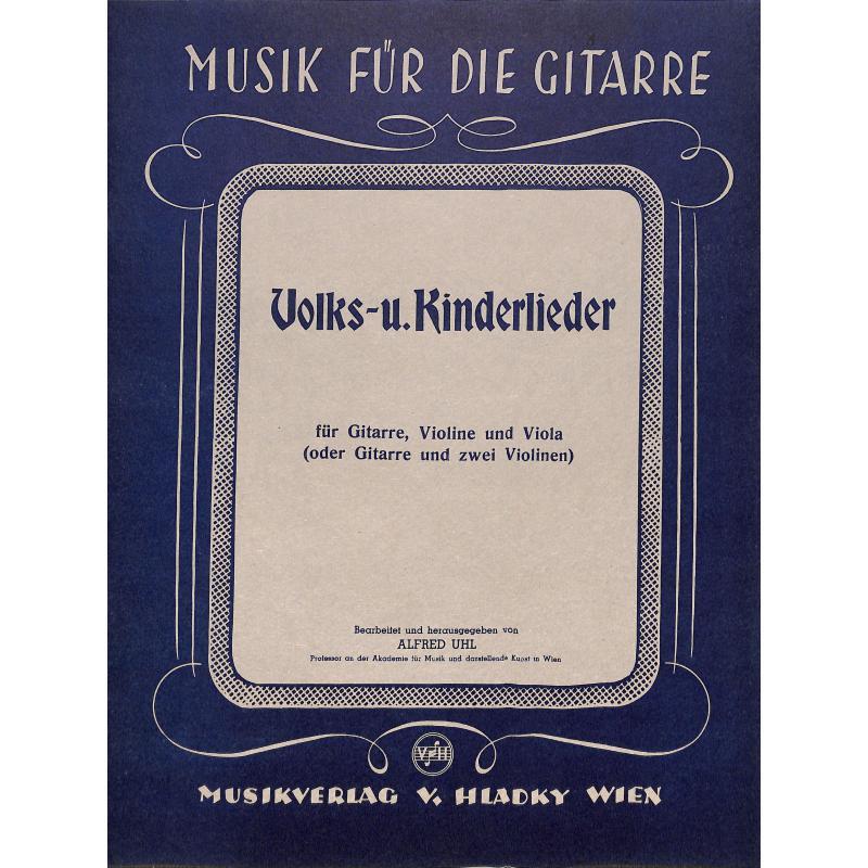 Titelbild für N 1523 - VOLKSLIEDER + KINDERLIEDER