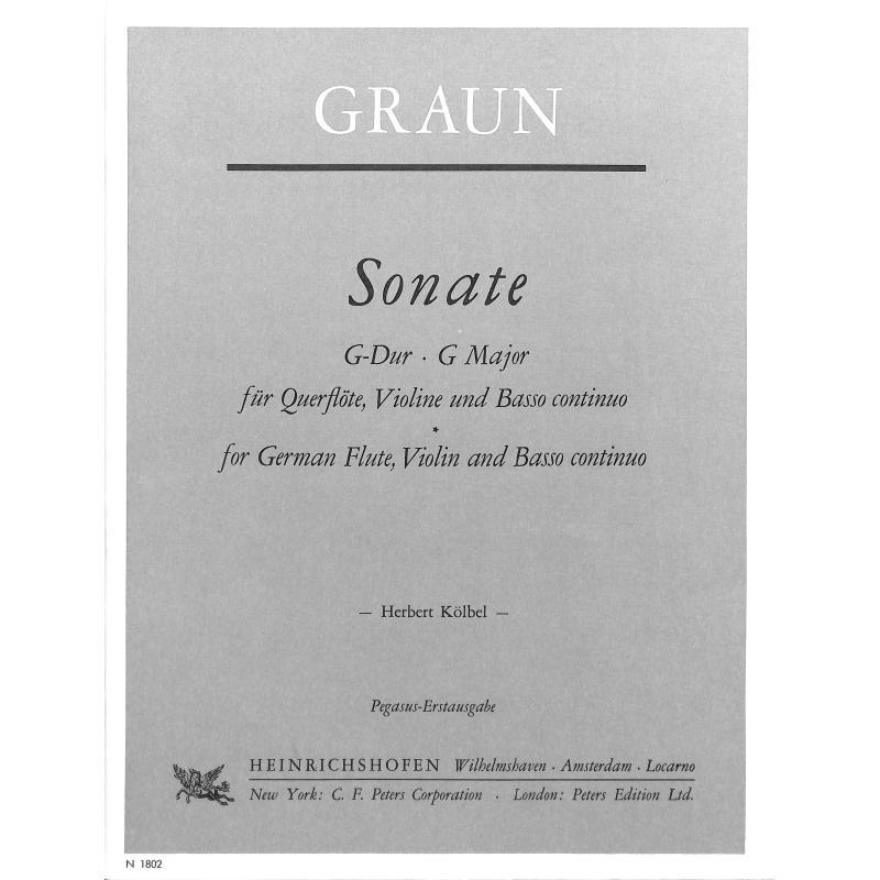Titelbild für N 1802 - SONATE G-DUR