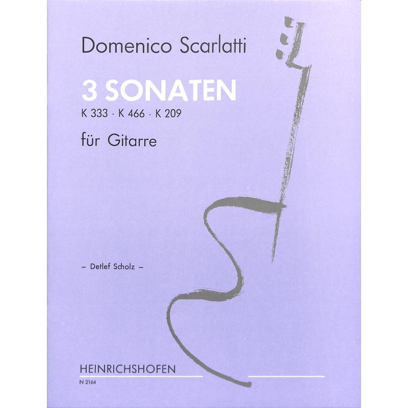 Titelbild für N 2164 - 3 SONATEN