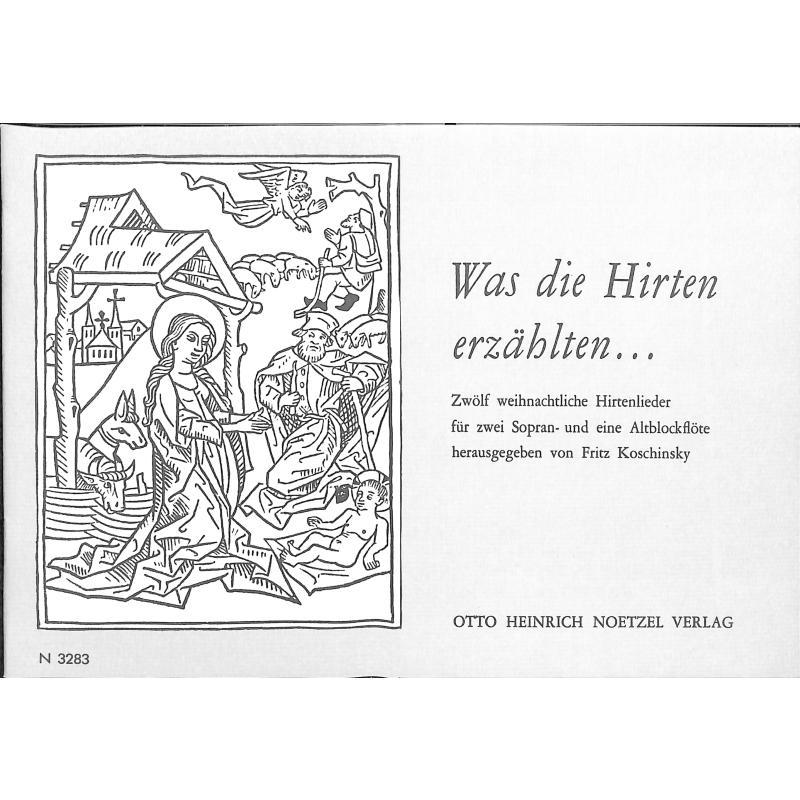 Titelbild für N 3283 - WAS DIE HIRTEN ERZAEHLTEN