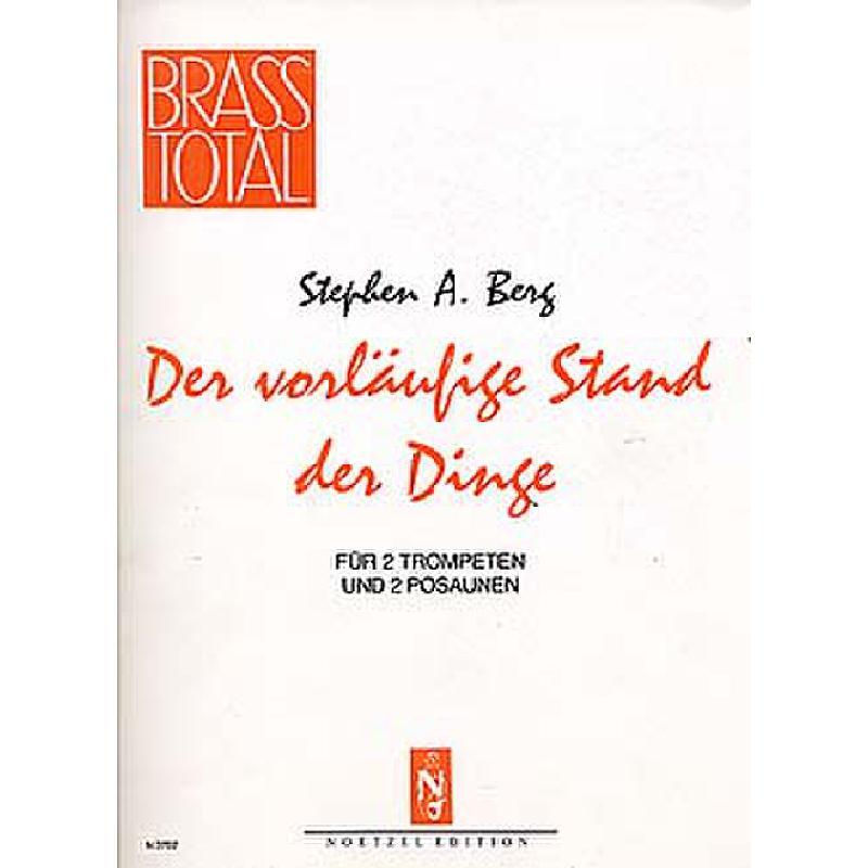 Titelbild für N 3702 - DER VORLAEUFIGE STAND DER DINGE
