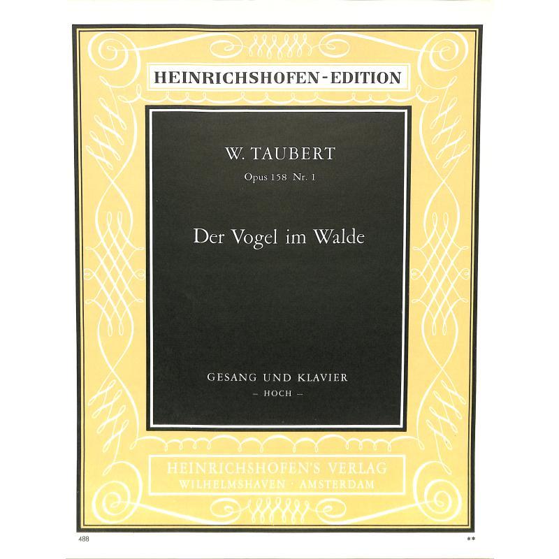 Titelbild für N 488 - VOGEL IM WALDE OP 158/5