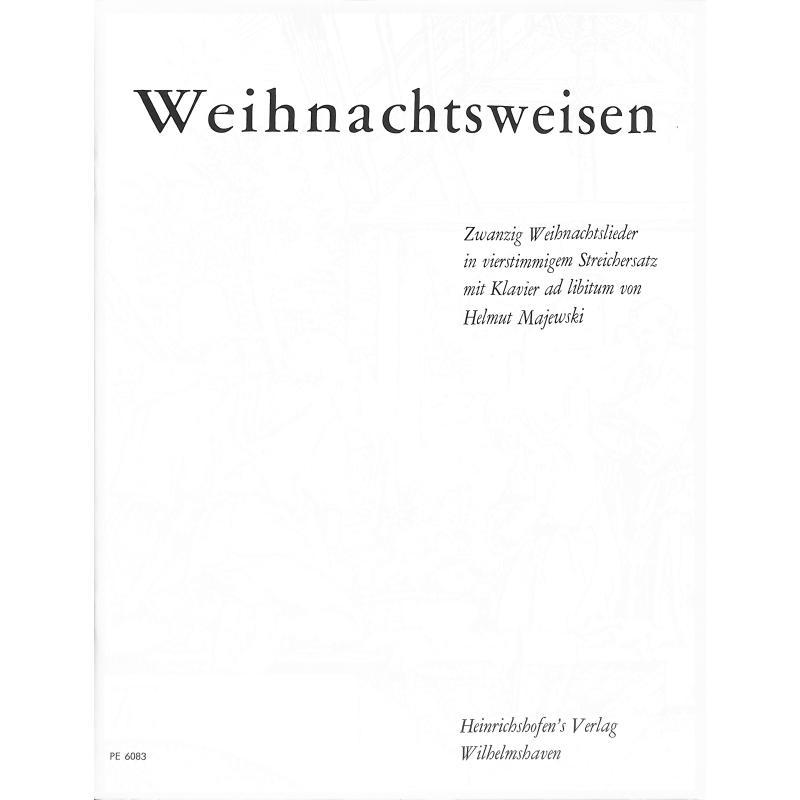 Titelbild für N 6083-P - WEIHNACHTSWEISEN - 20 WEIHNACHTSLIEDER