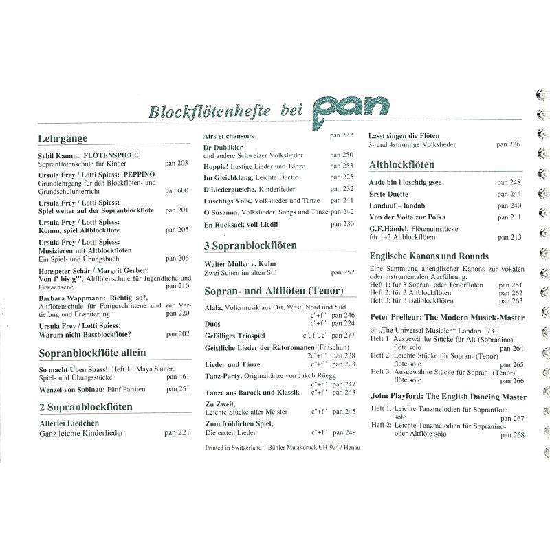 Notenbild für PAN 600 - PEPPINO