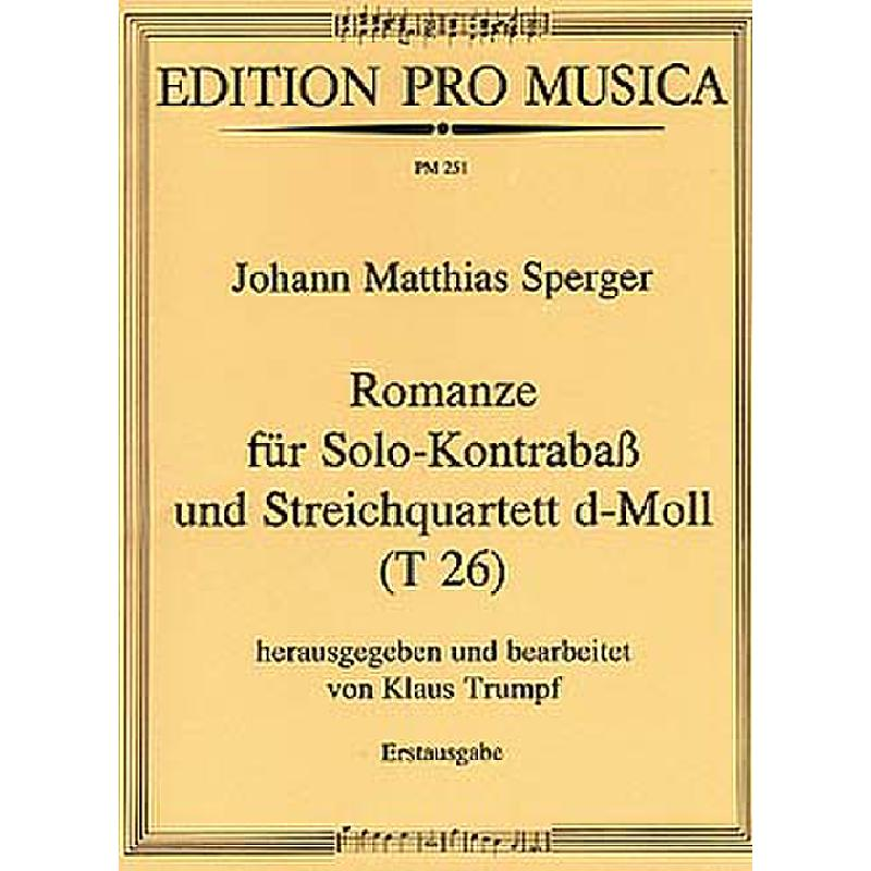Titelbild für PM 251 - ROMANZE D-MOLL